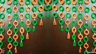 Best Out Of Waste||Woolen Door Hangings Using News Paper||Home Decor