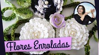 getlinkyoutube.com-FLORES EM CROCHE ENROLADAS MODELO QUATRO - 020