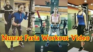 Nusrat Faria Gym Workout Video | Bangladeshi Actress Nusraat Faria Fitness Exercise Secret Video width=