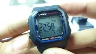 getlinkyoutube.com-Đồng hồ casio STANDARD W-800H-1AV