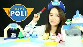 getlinkyoutube.com-로보카폴리 오토폴리 디럭스 플레이세트 장난감 캐리 Robocar Poli Deluxe Auto Poli playset Toys Робокар Поли Игрушки