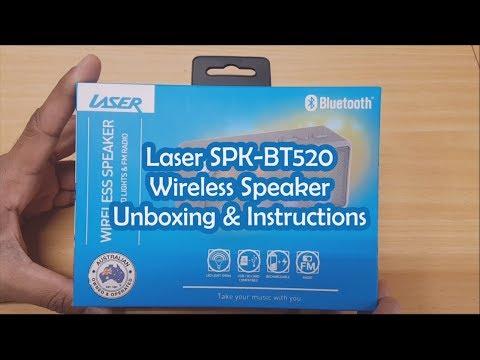 Laser LED Bluetooth Ultra-Portable Speaker