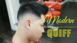 getlinkyoutube.com-Modern Quiff with a mid fade tutorial - How to Step by Step