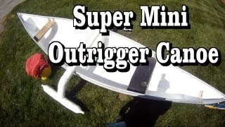 getlinkyoutube.com-How to make a cool Mini Outrigger Canoe or Kayak stabilizer for $20 a stable fishing canoe platform