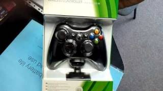 getlinkyoutube.com-Xbox 360 Black Wireless Controller with Play and Charge Kit (Unboxing)-  www.origogsm.hu