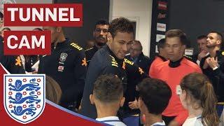 Neymar Jr, Willian, Coutinho in Town as England Take on Brazil   Tunnel Cam   Inside Access