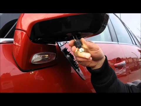 How to Change Instal under Mirror lights on LED. Citroen C4 Grand Picasso. Подсветка под зеркалом