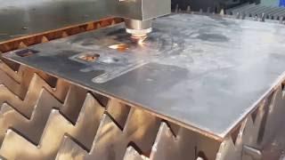 getlinkyoutube.com-IPG 500watt Fiber Laser Cutting machine for 8mm carbon steel for ACCURL