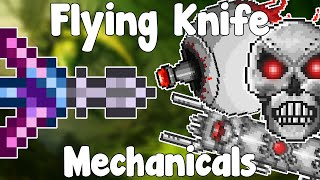getlinkyoutube.com-Flying Knife VS Mechanicals!? - SLOW FIGHTS , EXCITE! - Weapon VS Bosses