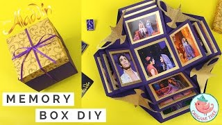 WIN TICKETS NYC ALADDIN on Broadway & How to Make an Explosion Box | Paper Craft Exploding Box Gift