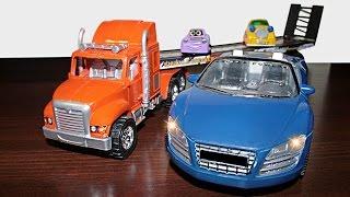 getlinkyoutube.com-Мультфильм про игрушечные машины: эвакуатор и Автосервис Cartoon about toy cars