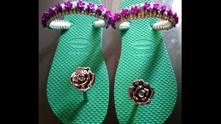 getlinkyoutube.com-Decoracion de sandalias con corte