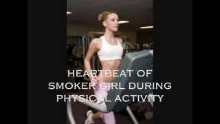 getlinkyoutube.com-Fast Heartbeat of Smoker Girl during intense physical activity