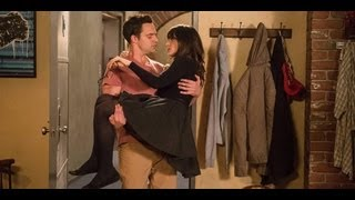 getlinkyoutube.com-The Sexiest Nick and Jess Moments From New Girl | The Buzz