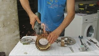 getlinkyoutube.com-Construccion de un Generador Electrico Casero.----How to Make a Homemade Electric Generator