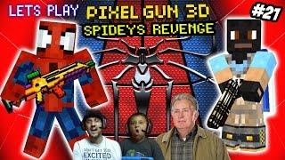 getlinkyoutube.com-Pixel Gun 3D: Spiderman Avenges Uncle Ben? Dad vs. Son Deathmatch! (Part 21 Face Cam)