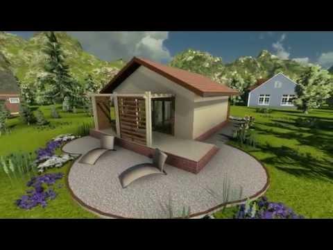 MODEL A-04, Interesantna vikendica, kuća za odmor, P = 56 m2