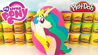 MY LITTLE PONY MLP Giant CELESTIA Play Doh Surprise Egg | Series 3 Mystery Minis Complete Set