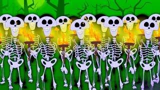 getlinkyoutube.com-Skeletons March | Scary Nursery Rhymes For Children | Happy Halloween