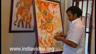 getlinkyoutube.com-Training Mural paintings in Kerala, India