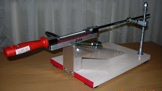 getlinkyoutube.com-Точилка для ножей от Робинзона с шаровым узлом скольжения. Knife sharpening system from the Robinzon