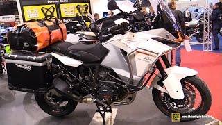 getlinkyoutube.com-2016 KTM 1290 Super Adventure customized by Touratech - Walkaround - 2015 Salon de la Moto Paris