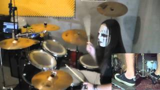 getlinkyoutube.com-Slipknot - Psychosocial Drum Cover with Joey Jordison Mask drum play-through