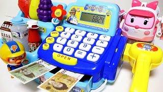 getlinkyoutube.com-로보카폴리 마트계산대 와 또봇 장난감 Robocar Poli cash register toy