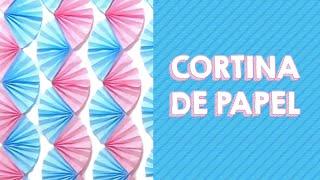 getlinkyoutube.com-Painel / Cortina de Leques de Papel | DIY