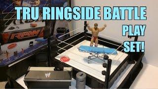 getlinkyoutube.com-WWE ACTION INSIDER: Ringside Battle Playset! ToysRus Exclusive Mattel Wrestling Figure Ring!