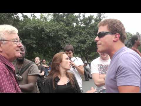 the big arguing in public(union square)-----new york videodyssey(111)