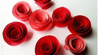getlinkyoutube.com-How to make Rolled Paper Roses Quick & Easy Tutorial