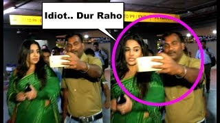 Vidya Balan Fan Touch Her Wrongly At Airport