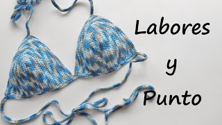 getlinkyoutube.com-Aprende  tejer un bikini a ganchillo o crochet
