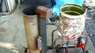 自作廃油ストーブのテスト NO4