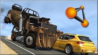 getlinkyoutube.com-BeamNG Drive Trucks Vs Cars #10