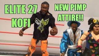 getlinkyoutube.com-WWE ACTION INSIDER: Elite series 27 Kofi Kingston Mattel Wrestling Figure with Cloth T-Shirt