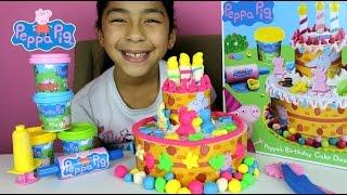 getlinkyoutube.com-Tuesday Play Doh Peppa Pig Cake  Peppa's Birthday Dough Set   B2cutecupcakes