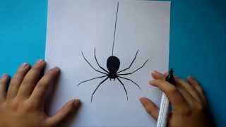 getlinkyoutube.com-Como dibujar una araña paso a paso | How to draw a spider