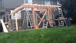 getlinkyoutube.com-Patio Roof Addition (Time Lapse)