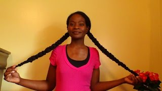 getlinkyoutube.com-Natural Hair:  Banding For Stretched Hair & Protective Style