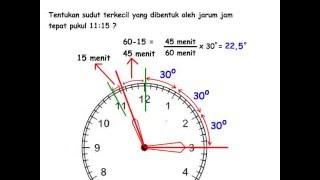 getlinkyoutube.com-Mencari besar sudut pada jarum jam, Matematika SD, Aqila Course