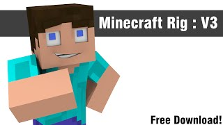 getlinkyoutube.com-Minecraft Blender Rig v3 [Free Download] [Blender]