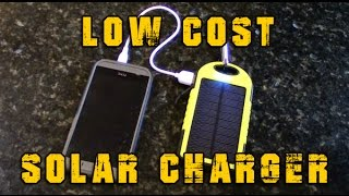 getlinkyoutube.com-$15 Portable Solar Charger For Emergency, Bug Out Bags And Camping