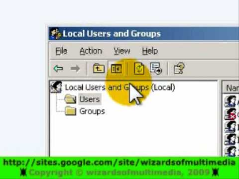 how to create a user account in windows server 2003