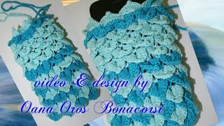 getlinkyoutube.com-crochet cell cover with crocodile stitch