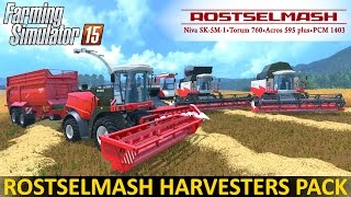 getlinkyoutube.com-Farming Simulator 15 ROSTSELMASH HARVESTERS PACK
