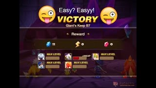 getlinkyoutube.com-Summoners War Giant's B7 easy with noobie team!