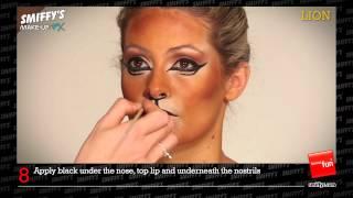 getlinkyoutube.com-Lion Face Painting Make-up Tutorial