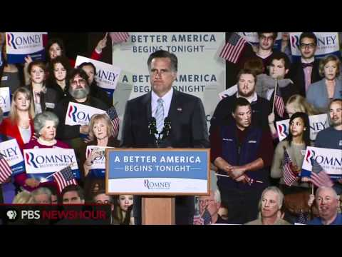 Mitt Romney Gives Primary Victory Speech on Verge of General Election